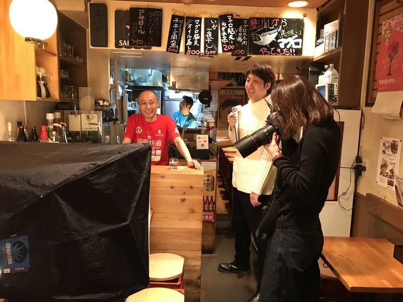 東京ウォーカー一人呑み特集取材風景